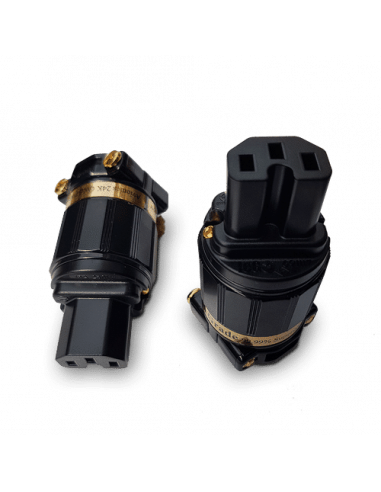 IeGo Ti2020BK Gold plated IEC Plug